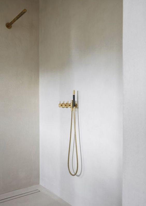 Minimal interior design for a bathroom