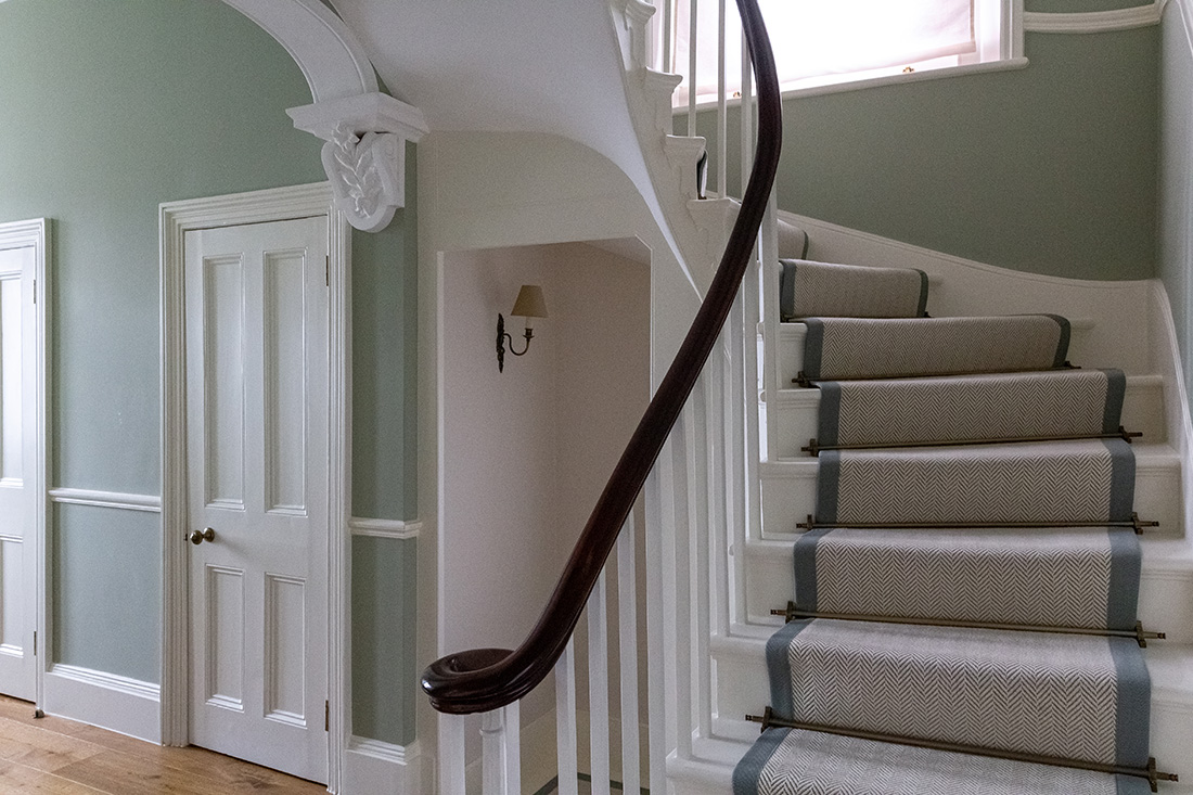 fully renovated stairs in grade II listed house in St John's Wood, Lodnon