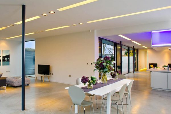 using architectural lighting in interior design by Phos