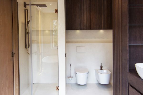 Luxury interior design for bathroom, Woodside avenue