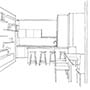 picture of scetch of living area design for property in cholmeley park