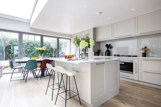 picture of bespoke joinery in white neutral kitchen
